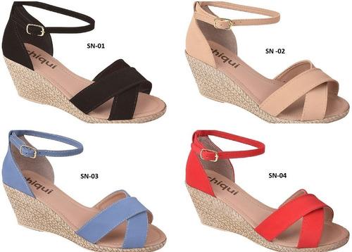 04 pares sandália sapato feminina chiquiteira chiqui/9851