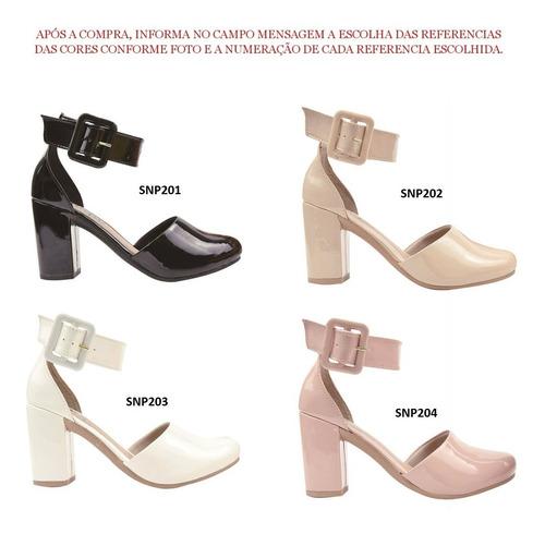 04 pares sandália sapato feminina chiquiteira chiqui/9960