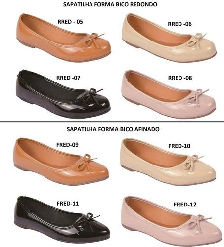04 pares sapatilha sapato feminina chiquiteira atacado revenda chiqui/9173
