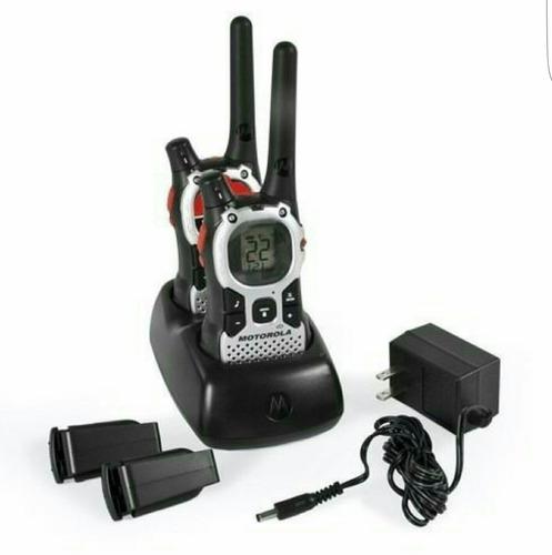 04 rádio comunicador motorola talkabout mj270 43km com fone
