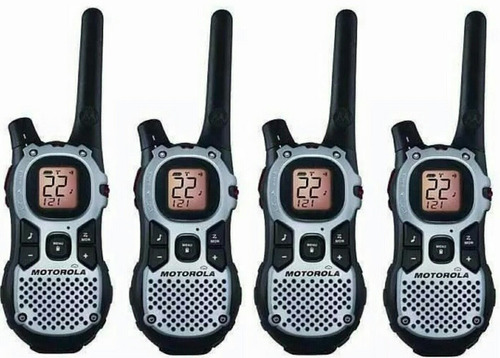 04 rádio comunicador motorola walk talk talkabout mj270 43km
