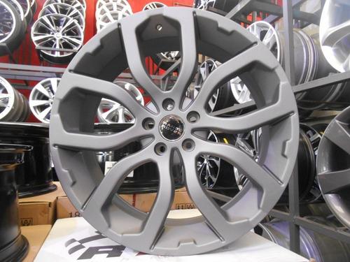 04 rodas land rover evoque aro 20 x 8 5x108  grafite fosco