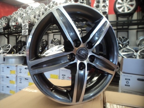 04 rodas s219 aro 15 5x100 diamantadas cromo novas