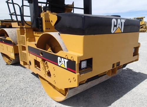 04) rodillo vibrocompactador de asfalto doble cat cb534c