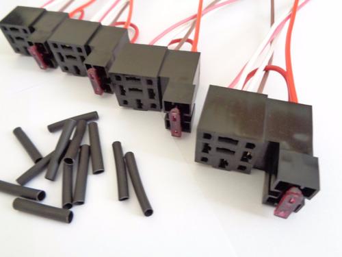 04- soquetes base porta rele auxiliar 3/4/5 pinos c/ fusivel