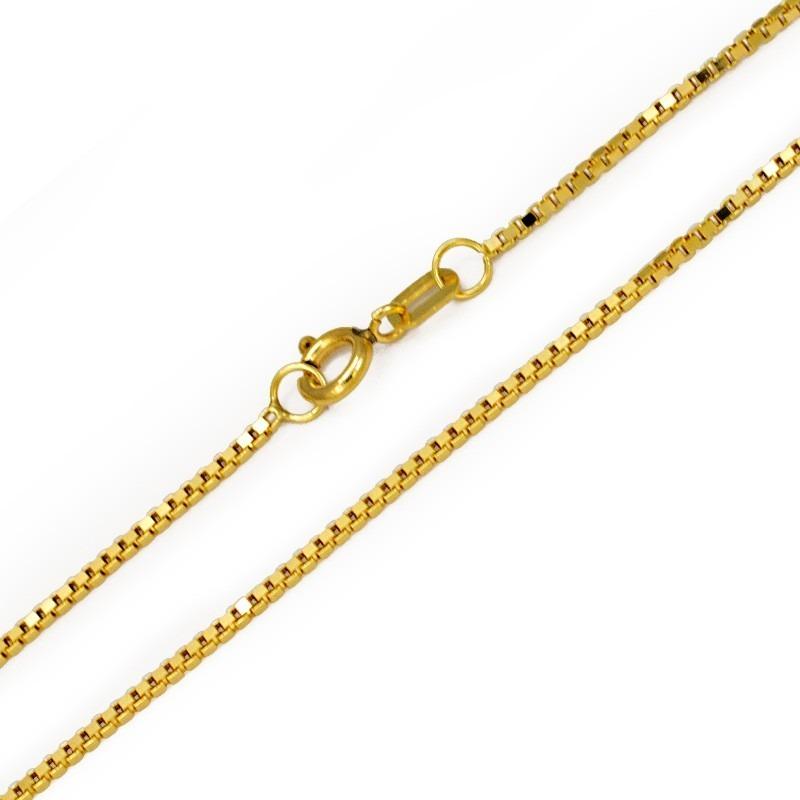 46c43a0dab3bb (04au-100) Corrente Veneziana 0,5 45cm Ouro 18k - R  420,00 em Mercado Livre