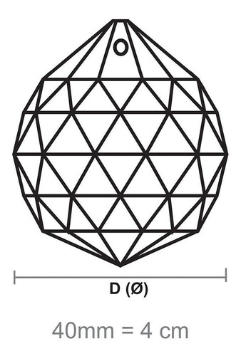 05 bola esfera cristal k9 feng shui 4,0 cm para lustres.