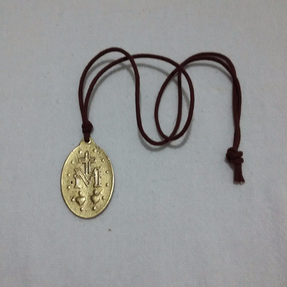 425cc0619e2 05 Cordão Medalha Milagrosa Nossa Senhora Graças Ouro Velho