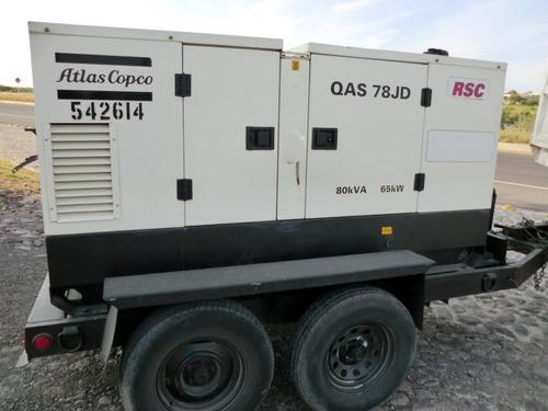 05) generador de electricidad 65 kw 80 kva atlas copco 2004