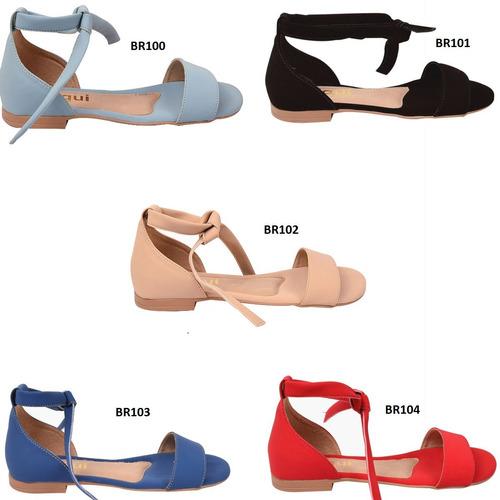 05 pares sandalia feminina rasteira rasteirinha mmt 1400/74