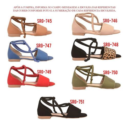 05 pares sandália sapato feminina chiquiteira atacado revenda chiqui/9835