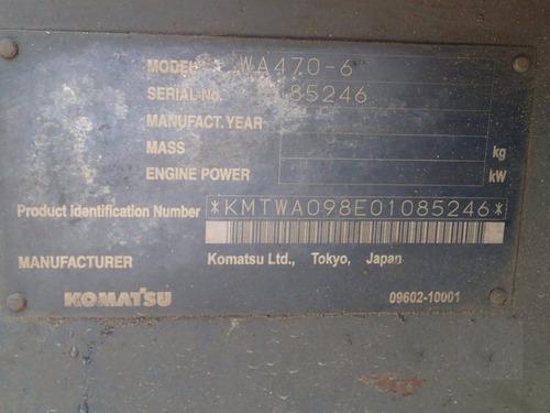 05) payloader / cargador frontal komatsu wa470-6 2008
