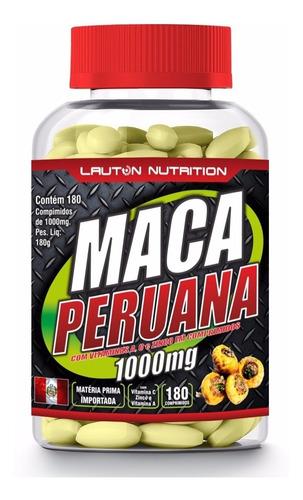 05 potes maca peruana 1000mg 180 lauton nutrition