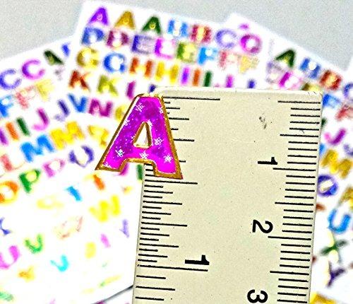 05 Pulgadas Az Carta 10 Hojas Letras Coloridas Alfabeto Resp ...