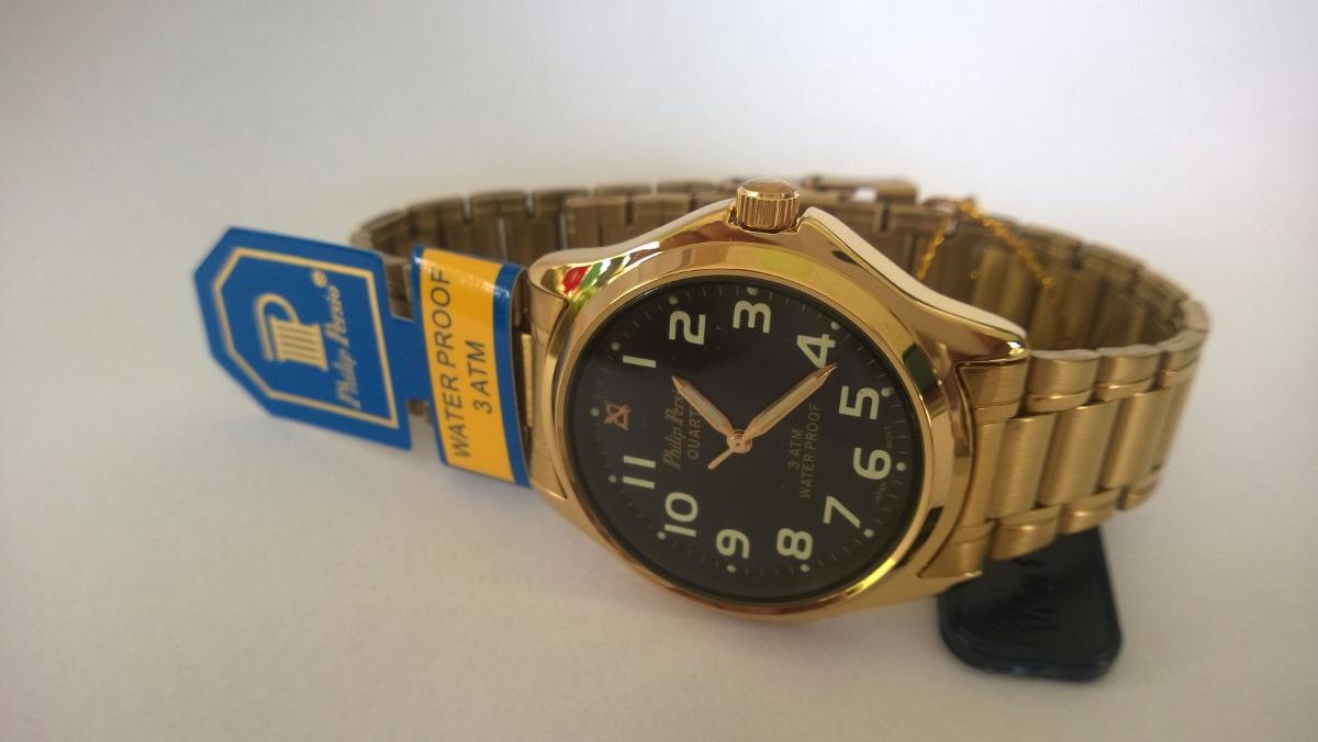75746c9162f 05 Relógio Masculino Dourado Philip Persio Original Atacado - R  220 ...