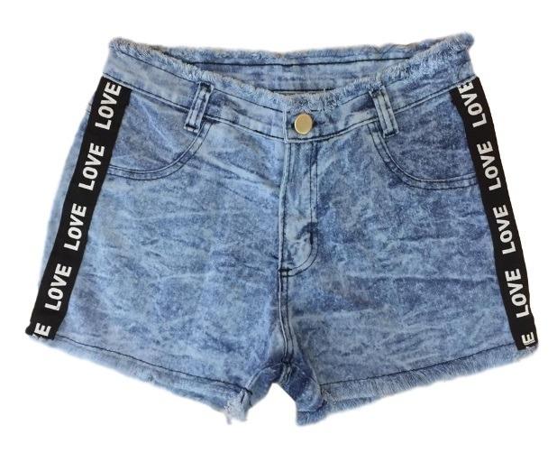 5a3a519f6 05 Short Jeans Feminino Desfiado Lycra Cintura Alta Atacado - R  115 ...