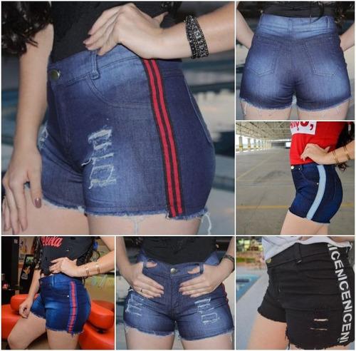 05 shorts jeans feminino hot pants promoção atacado 36 ao 44