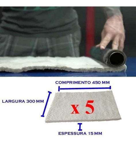 05 unidades lã cerâmica escape de moto, superior lã de vidro