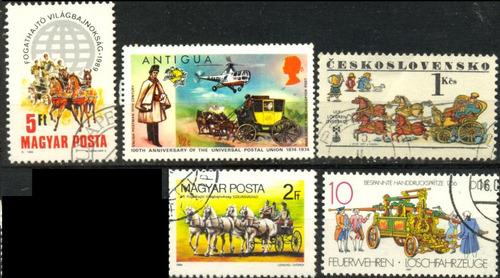 0525 chekoslovaquia transporte 5 sellos c t o  n h modernos