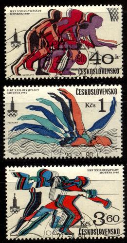 0548 olimpiadas chekoslovaquia 3 piezas usadas 1980