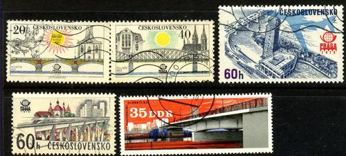 0592 puentes dif ´países 5 piezas usadas n h modernos