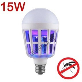 06 lampada led 12 w -anti-mosquito - inteligente 110v-220v