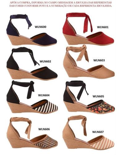 06 pares sandália sapato feminina chiquiteira chiqui/9833