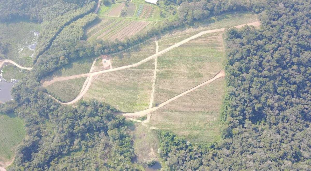 06 terrenos planos com infraestrutura de 600m² em ibiuna