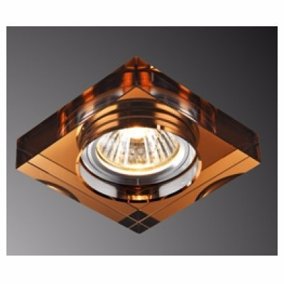 06 un spot embutir cristal quadrado cobreado bronze ac594