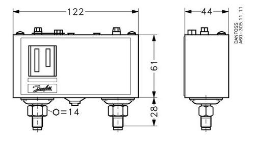 060-129466 pressostato kp15a es-0,2 a 7,5/di8-32 bar danfoss