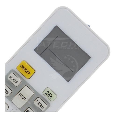 0657 - controle remoto ar condicionado springer rg52