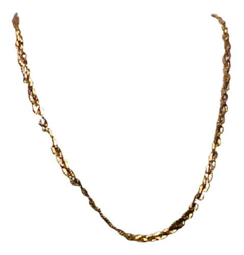 #069c - corrente em ouro 18k com centro trançado