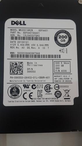 06k55x hd dell enterprise 200gb sas 6g ssd 2,5 mk2001grzb