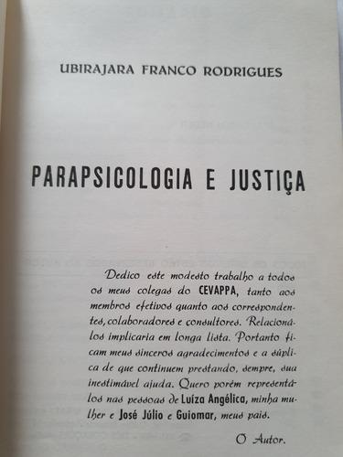 071- parapsicologia e justiça - ubirajara franco rodrigues