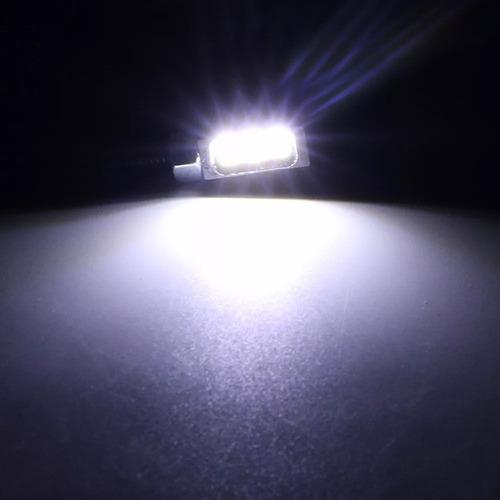 08 par parafuso luz de placa moto carro 3 leds frete gratis