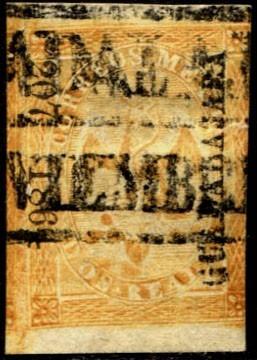 0870 clásico scott #23 guadalajara#270  1864  2 reales usado