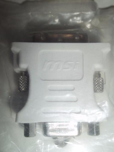 09 adaptador video dvi-a m x vga f  placa de video projetor