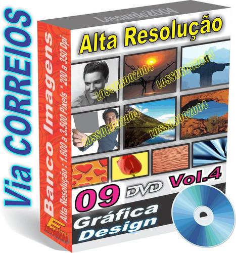 09 dvds com 13.000 imagem alta resolução + vetores volume