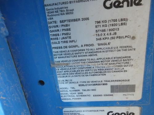 09) oferta especial torre de luz genie 6 kw 220/127v 2005