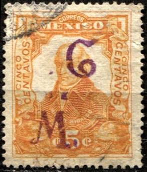 0972 revolución scott#314 gomigrafo s l potosí 5c usado 1914