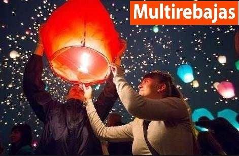 $0,99c/u x decenas globos aire caliente del deseo chino
