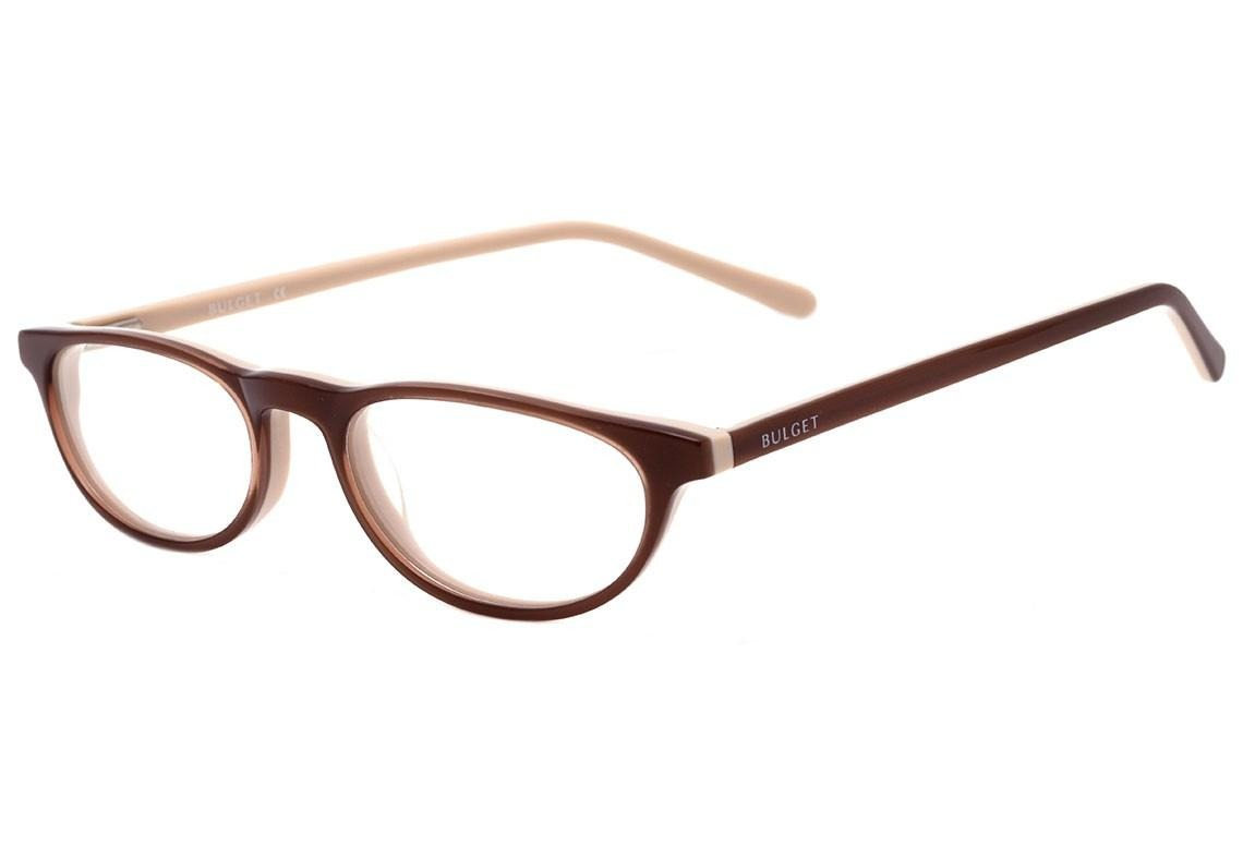 aaebcd27580a9 0bulget Bg 7001 - Óculos De Grau C01 Marrom E Creme Brilho - R  116 ...