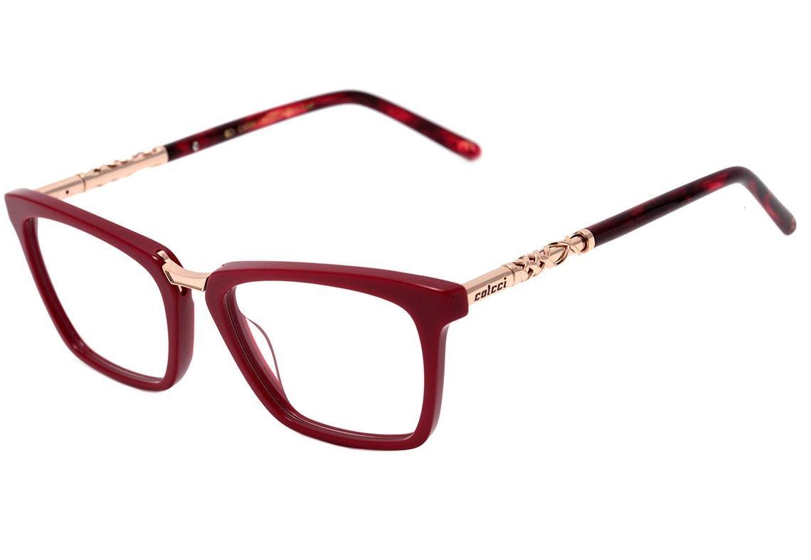 e32efdb02 Características. Marca Colcci; Modelo Colcci C6086 - Óculos De Grau; Cor  Vermelho E Dourado Brilho ...