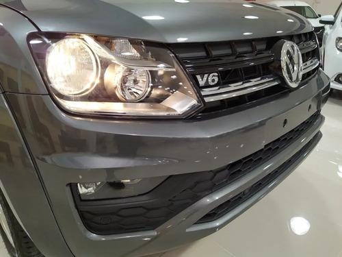 0km volkswagen amarok v6 confortline blanca/gris indi fisica