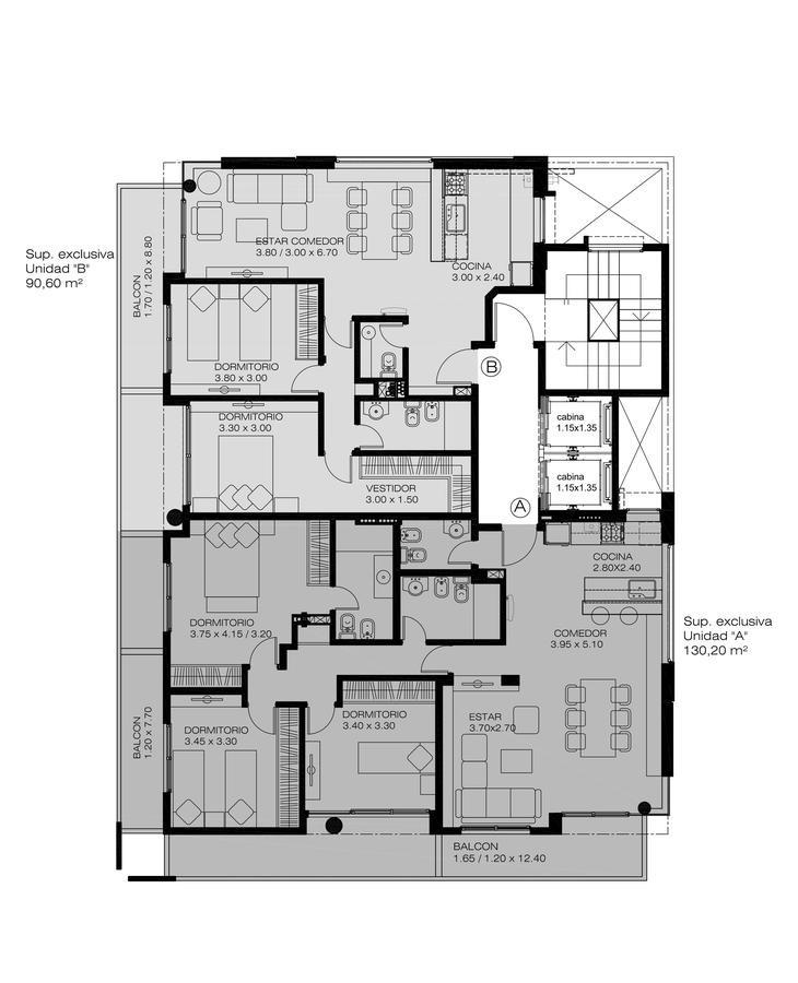 1 - 2 - 3 dormitorios - edificio de viviendas con excelente calidad