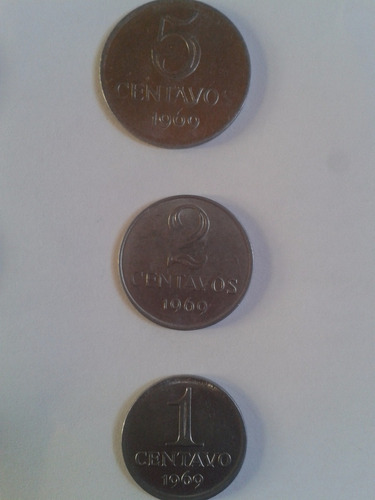 1 * 2 * 5 centavos 1969 brasil l14