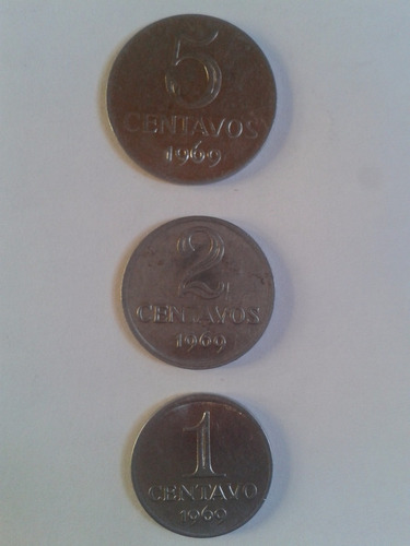 1 * 2 * 5 centavos 1969 brasil l18