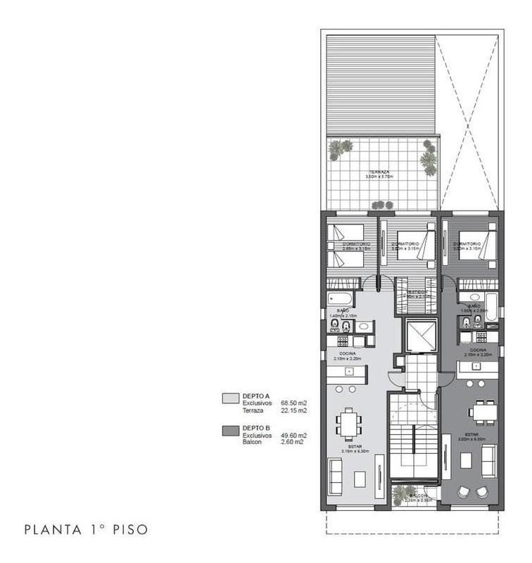 1  2 dormitorios | cocheras