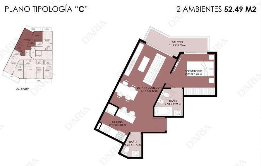 1- 2 y 3 ambientes : excelentes accesos: rodeado espacios verdes