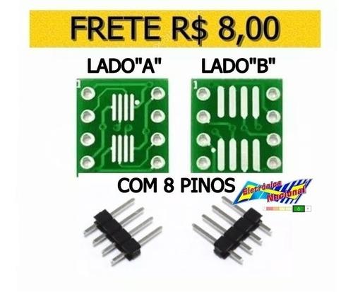 1 adaptador sop8 soic8 com 8pinos p/ dip8 150 a 209mil flash